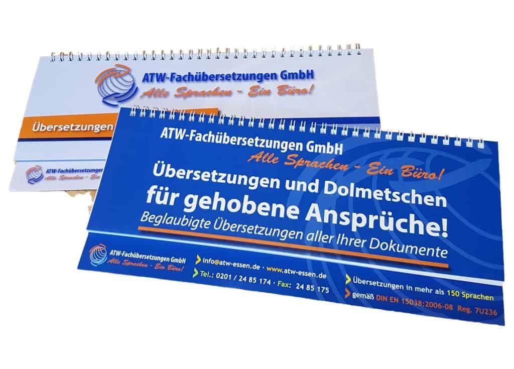 Werbeagentur defence - Werbeartikel - Tischkalender